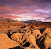 Zabriskie Point Ridges Stock Photography