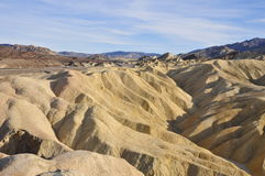 Zabriskie Point and road Royalty Free Stock Photography