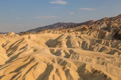 Zabriskie Point. Rock formations at Zabriskie Point in Death Valley royalty free stock image