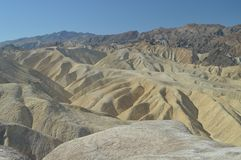 Zabriskie Point. Stunning Yellow Rock Desert. Travel Holidays Geology. J. Une 28, 2018. Death Valley California. EEUU. USA Stock Images