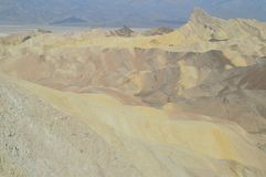 Zabriskie Point. Stunning Yellow Rock Desert. Travel Holidays Geology. June 28, 2018. Death Valley California. EEUU. USA Royalty Free Stock Photography