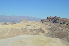 Zabriskie Point. Stunning Yellow Rock Desert. Travel Holidays Geology. June 28, 2018. Death Valley California. EEUU. USA Stock Photography