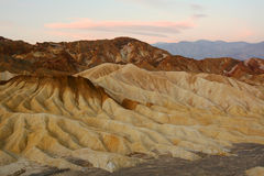 Zabriskie Point at Sunrise Stock Image
