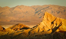 Zabriskie point during sunrise Stock Photos