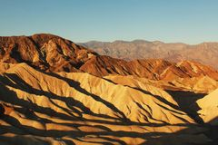 Zabriskie point during sunrise Stock Images