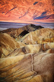 Zabriskie Point sunrise Stock Photo