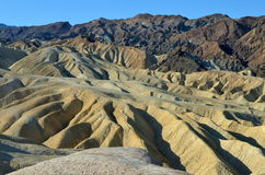 Zabriskie punkt, Death Valley nationalpark, Calif Arkivfoton