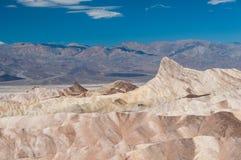 Zabriskie punkt, Death Valley NP, USA Arkivfoton