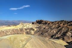 Zabriskie punkt i den Death Valley nationalparken, Kalifornien Fotografering för Bildbyråer