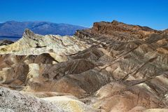Zabriskie-Punkt an Nationalpark Death Valley Stockfotos