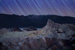 Zabriskie punktu gwiazdy ślada Fotografia Royalty Free