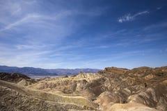 Zabriskiepunt, Doodsvallei, Californië Stock Foto's