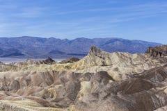 Zabriskiepunt, Doodsvallei, Californië Royalty-vrije Stock Afbeeldingen