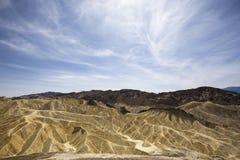 Zabriskiepunt, doodsvallei, Californië, de V.S. Royalty-vrije Stock Foto