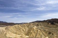 Zabriskiepunt, doodsvallei, Californië, de V.S. Royalty-vrije Stock Afbeeldingen