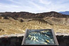 Zabriskiepunt, doodsvallei, Californië, de V.S. Stock Afbeelding