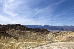 Zabriskiepunt, doodsvallei, Californië, de V.S. Royalty-vrije Stock Fotografie