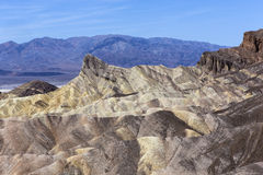 Zabriskiepunt, doodsvallei, Californië, de V.S. Stock Fotografie
