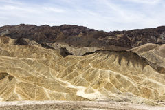 Zabriskiepunt, doodsvallei, Californië, de V.S. Stock Foto
