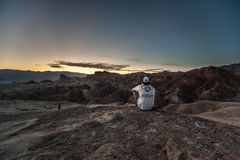 Zabriskiepunt, doodsvallei, Californi?, de V.S. stock foto's