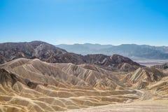 Zabriskiepunt in het Nationale Park van de Doodsvallei, Californië Royalty-vrije Stock Afbeelding