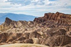 Zabriskiepunt in het Nationale Park van de Doodsvallei, Californië, de V.S. Stock Afbeeldingen