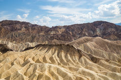 Zabriskiepunt in het Nationale Park van de Doodsvallei, Californië, de V.S. Royalty-vrije Stock Afbeelding