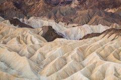 Zabriskiepunt in het Nationale Park van de Doodsvallei, Californië, de V.S. Stock Fotografie