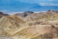 Zabriskiepunt in het Nationale Park van de Doodsvallei, Californië, de V.S. Royalty-vrije Stock Fotografie