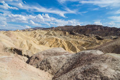 Zabriskiepunt in het Nationale Park van de Doodsvallei, Californië, de V.S. Royalty-vrije Stock Foto