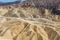 Zabriskiepunt in het Nationale Park van de Doodsvallei, Californië, de V.S. Stock Foto