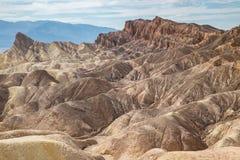 Zabriskiepunt in het Nationale Park van de Doodsvallei, Californië, de V.S. Royalty-vrije Stock Afbeeldingen