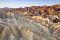Zabriskiepunt in het Nationale Park van de Doodsvallei, Californië, de V.S. Stock Foto's