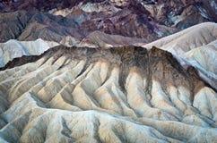 Zabriskiepunt in het Nationale Park van de Doodsvallei in Californië, de V.S. Royalty-vrije Stock Afbeelding