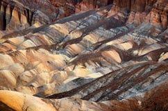 Zabriskiepunt in het Nationale Park van de Doodsvallei in Californië, de V.S. Stock Foto's