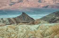 Zabriskiepunt in het Nationale Park van de Doodsvallei in Californië, de V.S. Royalty-vrije Stock Afbeeldingen