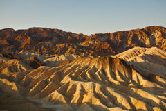 Zabrisky-point in Death valley in a sunset Stock Images
