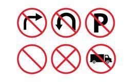 Zabroneni ruchów drogowych znaki ilustracji