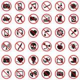 Zabroneni znaki Obrazy Royalty Free
