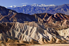 Zabrskie Point Panamint Mountains Death Valley Royalty Free Stock Photos