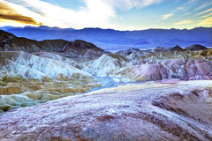 Zabruski Point Death Valley National Park Stock Image