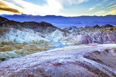 Zabruski Point Death Valley National Park Stock Image
