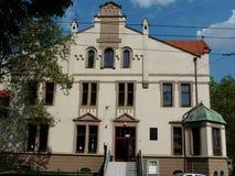 ZABRZE SILESIA, POLSKA - HISTORYCZNEGO budynku NOWY THEATRE zdjęcia royalty free