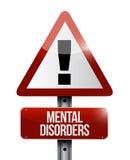 Zaburzenia psychiczne znak ostrzegawczy Obraz Stock
