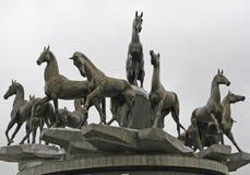 Zabytek Akhal-Teke konie w Ashgabat obrazy stock