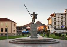 Zabytek Aleksander Wielki w Prilep macedonia zdjęcia royalty free