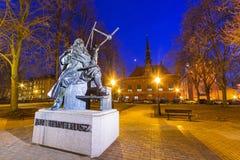Zabytek astronom Johannes Hevelius w Gdańskim Zdjęcia Royalty Free