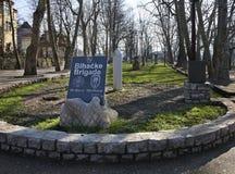 Zabytek Bihac brygada zgadzający się terenu teren kartografuje ważny ścieżki ulga cieniącego stan otaczający terytorium miastowa  obrazy royalty free