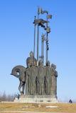 Zabytek bitwa na lodzie na halnym Sokolikha Otoczenia Pskov Obrazy Stock
