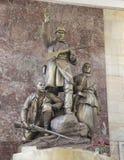 Zabytek bohaterów guerrillas w Moskwa staci metru Partizanskaya, Rosja Zdjęcia Royalty Free